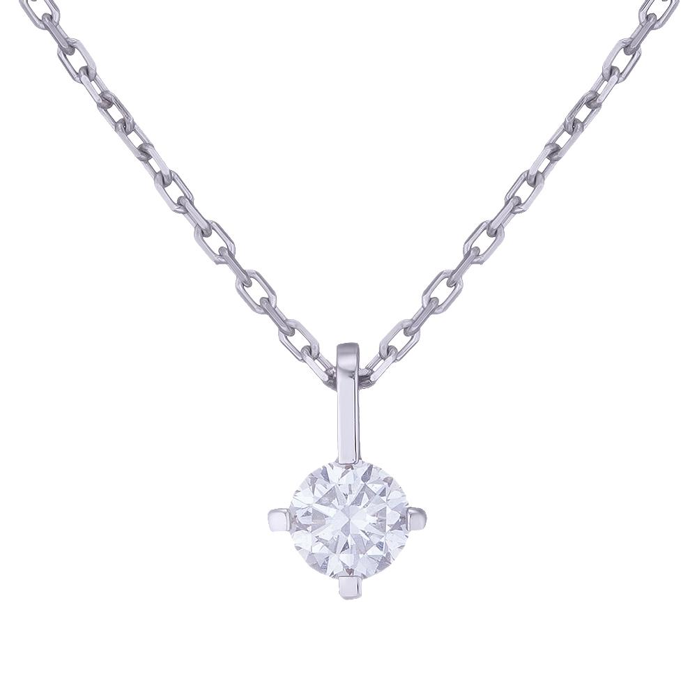 Купить Колье из белого золота с бриллиантом Dress code. Артикул: 710586420201 Киев | SOVA Jewels