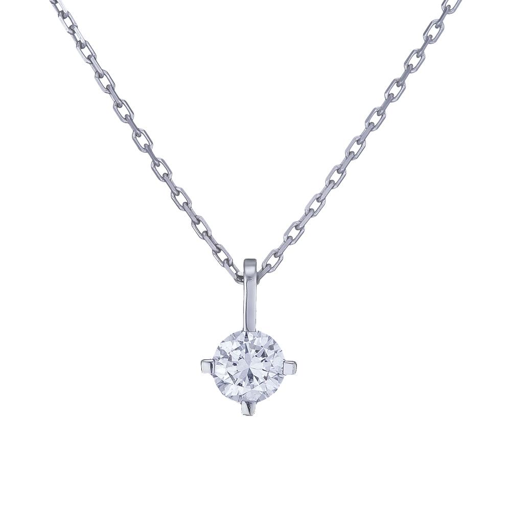 Купить Колье из белого золота с бриллиантом Dress code. Артикул: 710586320201 Киев | SOVA Jewels