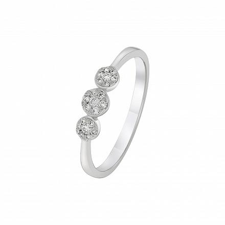 Перстень з білого золота Dress code з діамантами. Артикул  110237920201 e74f119b7a56f