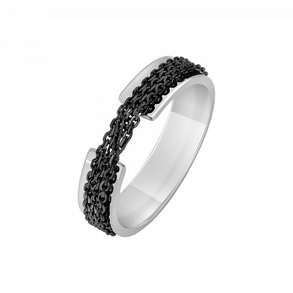 Перстень з білого золота Механіка. Артикул 100143710202 1a6b2becc4eac